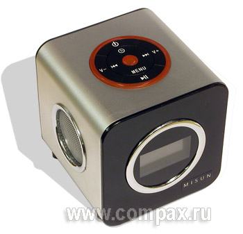 Колонки MP3 Misun BM-4 4Gb Black-Silver FM (MBS4)