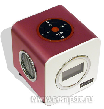 Колонки MP3 Misun BM-4 2Gb White-Red FM (MWR2)