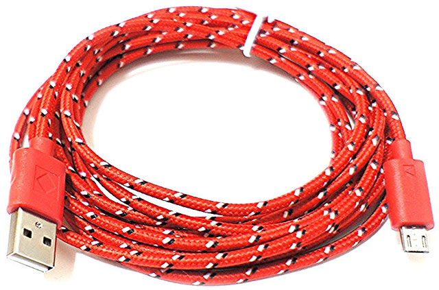 Кабель MicroUSB CarryMobile I-mee Braided Color cable Red (MKIMLCRD)